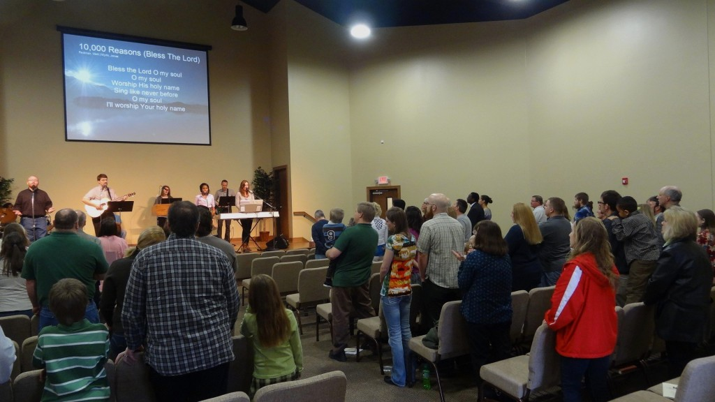 1st Service in the New Building