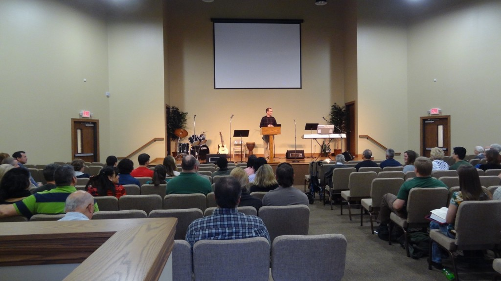 Pastor Rob Swartz sharing a message from God's Word.